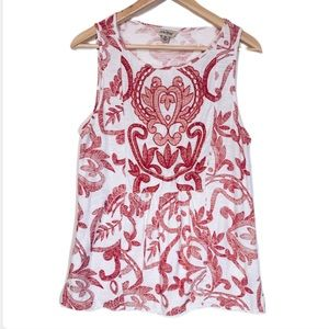 Lucky Brand Tops - 5/20$ Lucky Brand Floral Embroidered Tank